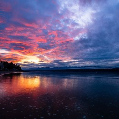Oh my goodness what a show there was in the sky this evening. The clouds were absolutely amazing. We are so blessed to live amongst such beauty. Hood Canal, Washington, USA