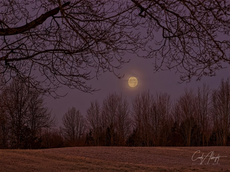 The Full Cold Moon 2019, at sunrise
