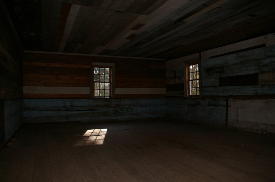 2nd floor windows of a house built in 1700s/1800s