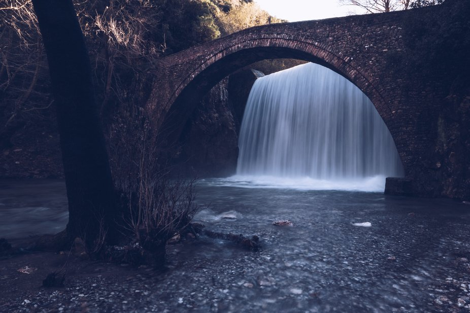Paleokaria's waterfalls located in central Greece and especially in the region of Thessa...