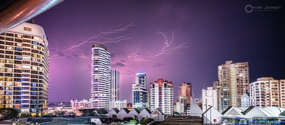 Lightning over BroadBeach - Gold Coast - QLD - Australia