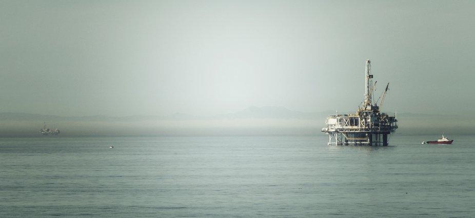 Offshore drilling near Long Beach California.