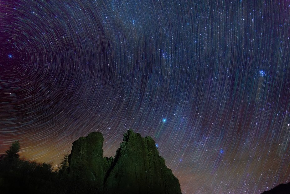 I haven't seen anyone do a star trail shot quite like this before, what do you guys thin...
