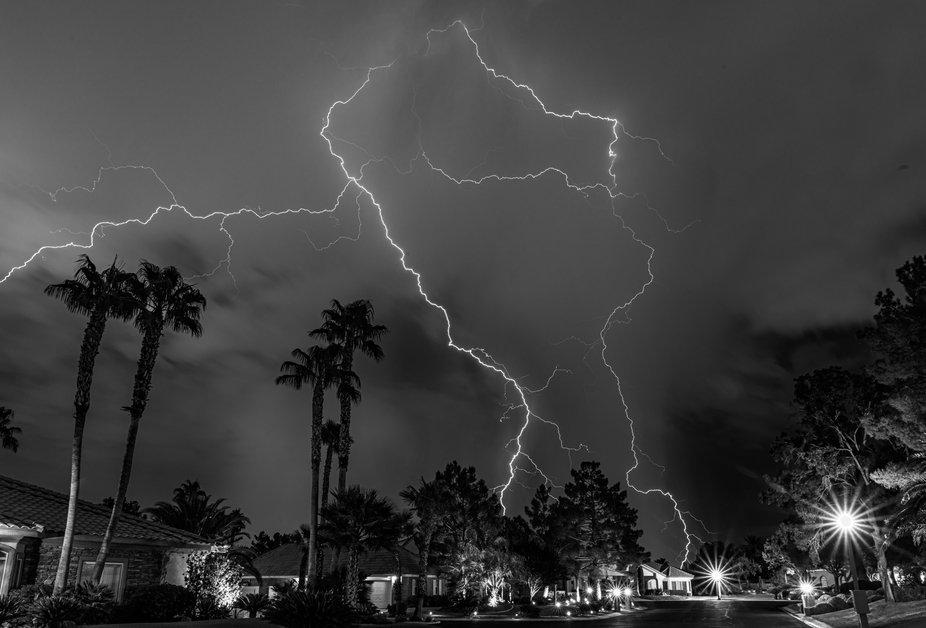 Monsoon from the front door, Las Vegas NV