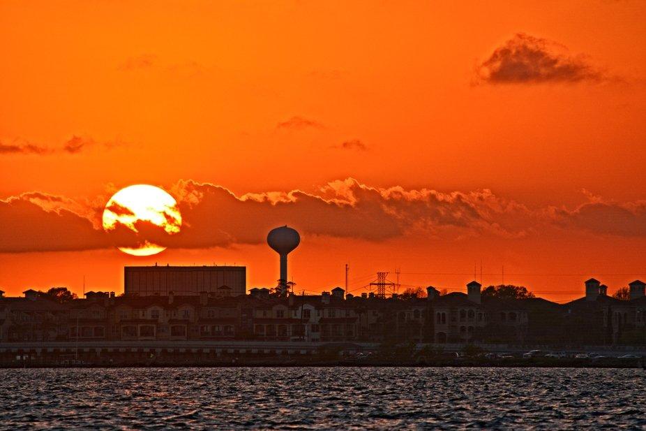 Sunset on Clear Lake Coastline