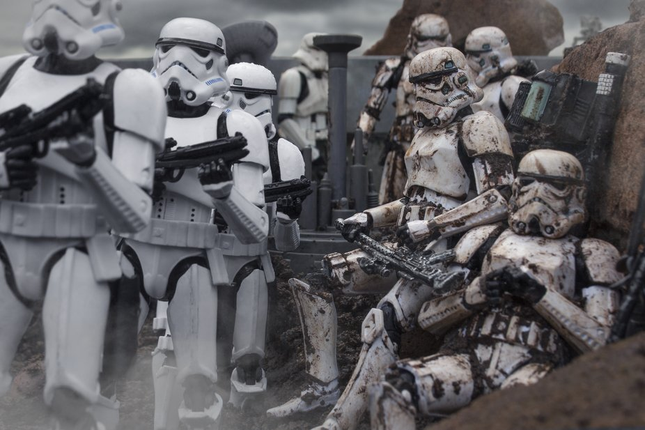 New troopers on the front line. Shot using Star Wars The Black Series action figures.
