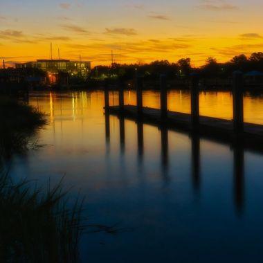 Dawn Breaks on Shem Creek