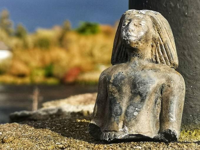 Close-up of broken statue