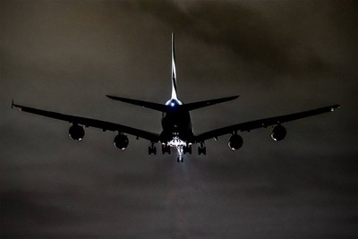 An A380 I think landing at Melbourne International Airport around midnight. Shot at f2.8 hand held in extremely low light. I only took this for fun to see how it would turn out. I was very happy with the result considering.