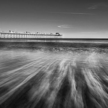 Short long exposure of the Bogue Inlet Pier in Emerald Isle North Carolina.