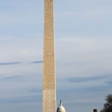 Washington Memorial and The Capitol