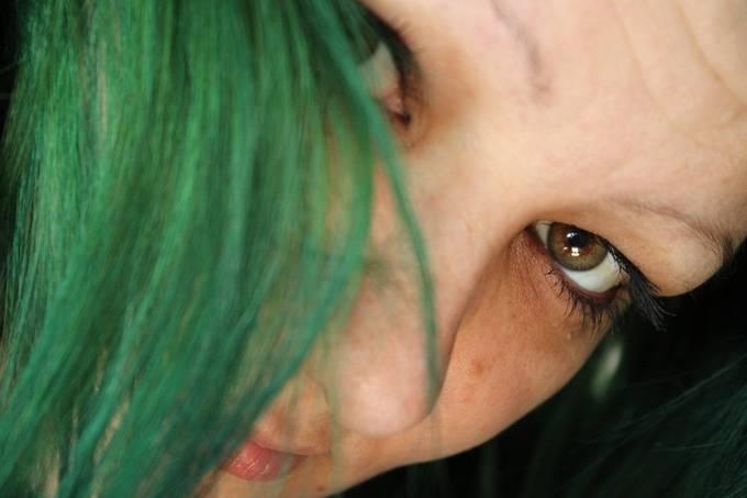 Closeup of young women