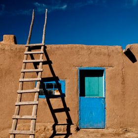 An adobe home on Taos Pueblo in Northern New Mexico.