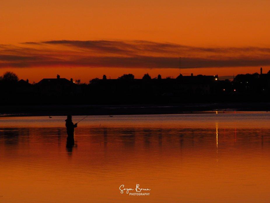 Fisherman sunset at Burrow Beach