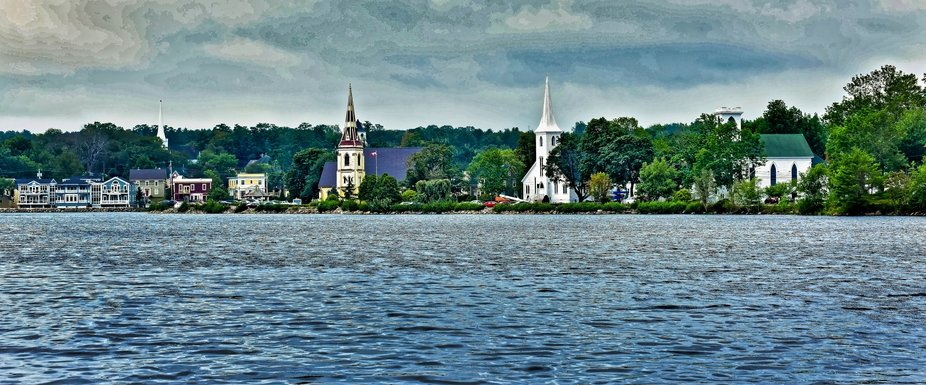 Drove up on this beautiful bay.  The churches and the colors of the homes were spectacular.