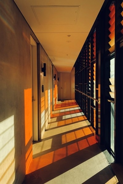 The orange corridor