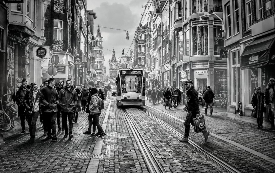 Walking through Amsterdam