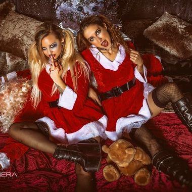 Santa's little Devils, Tasha and Jai.