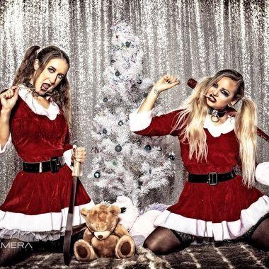Bad Santa's little devils Jai and Tasha.