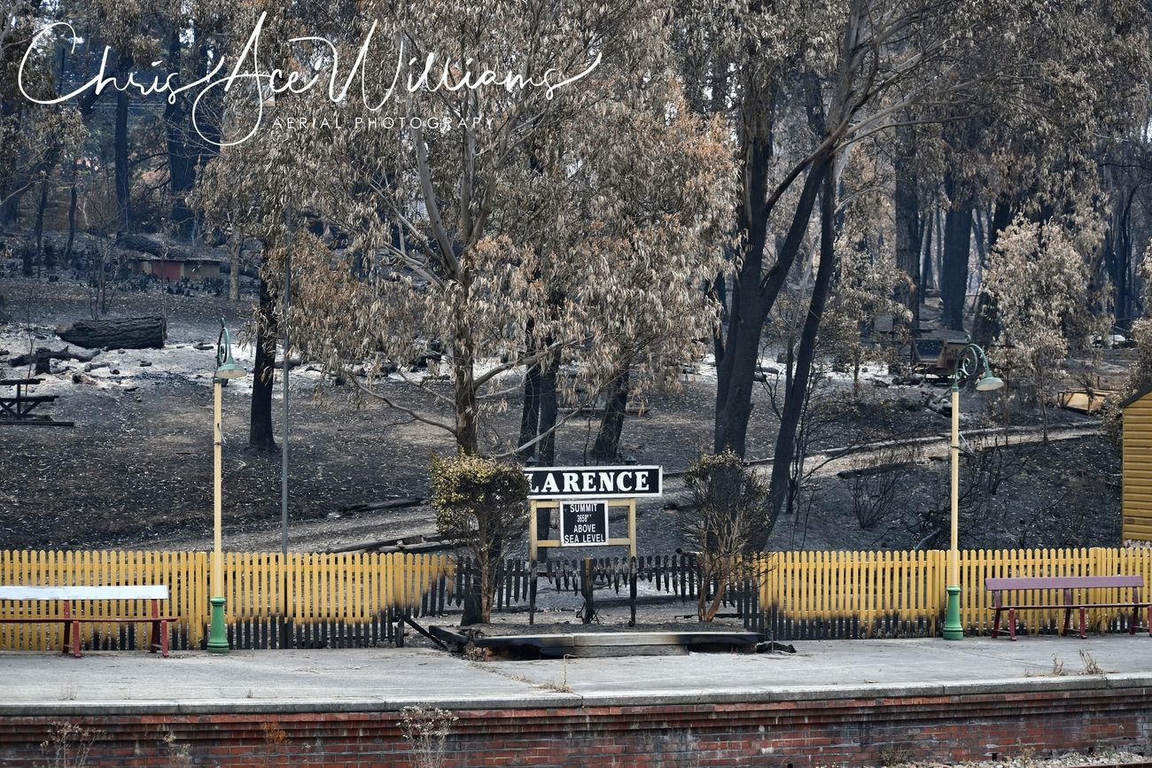 Zig Zag Railway post bush fire
