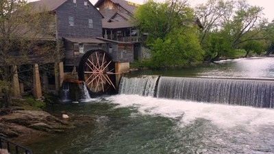 Old grist mill in Pigeon Forge Tennessee