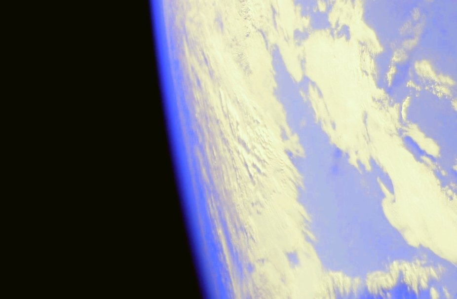 Taken on my phone, using the cameras on International Space Station.