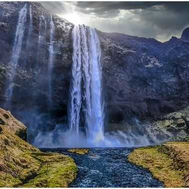 Seljalandsfoss is a waterfall in the south region of Iceland