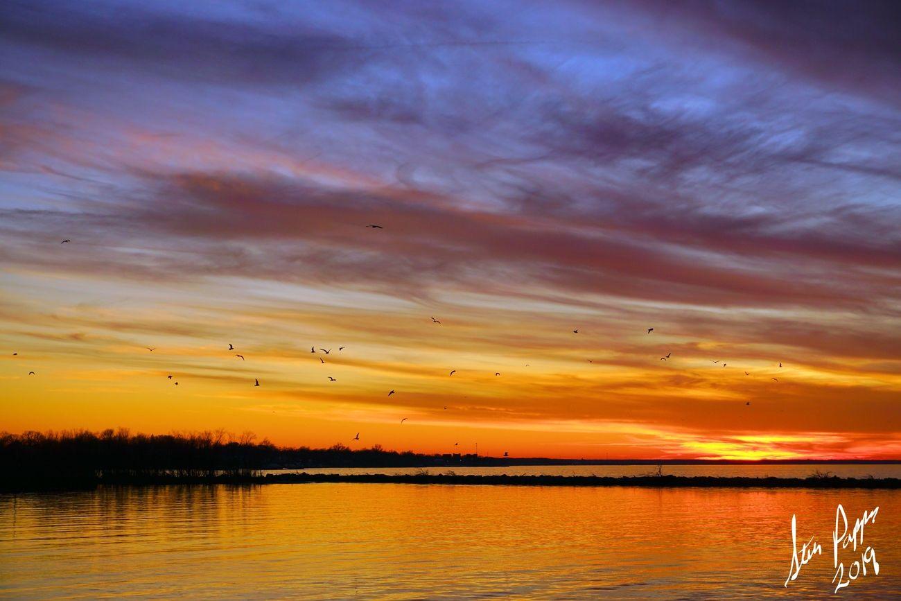 Christmas day Sunset over Lake Erie