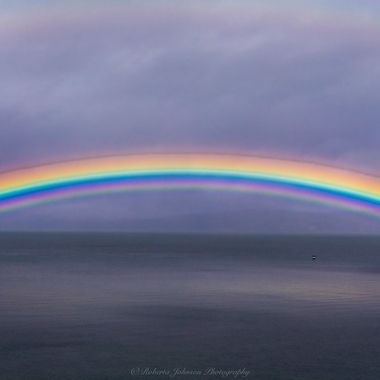 The most beautiful rainbow I have ever seen. Hood Canal, Washington, USA