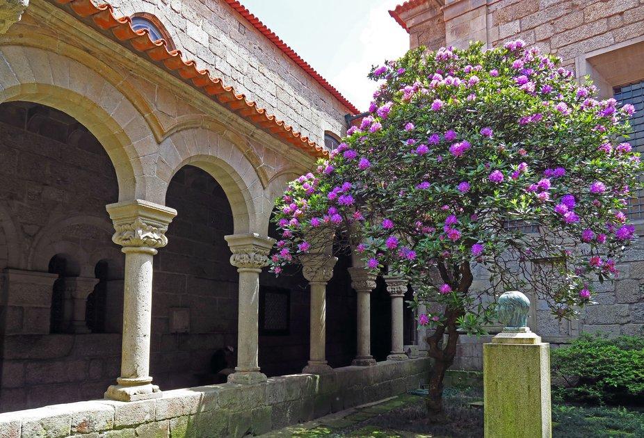 A courtyard in Guimaraes