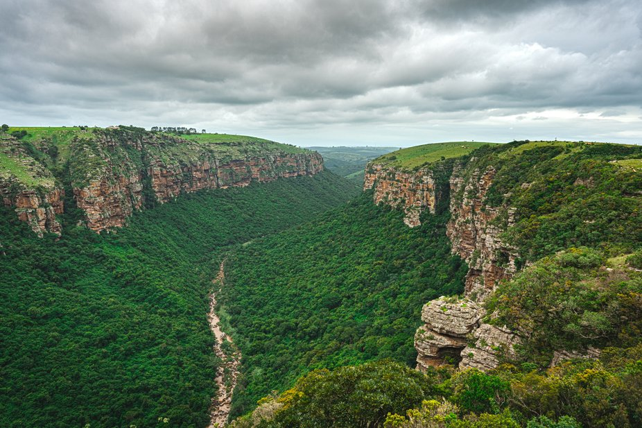 A large canyon in Kwazulu Natal South Africa