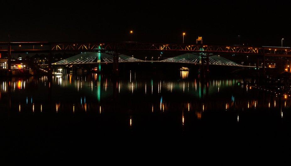 Portland Bridges at Night