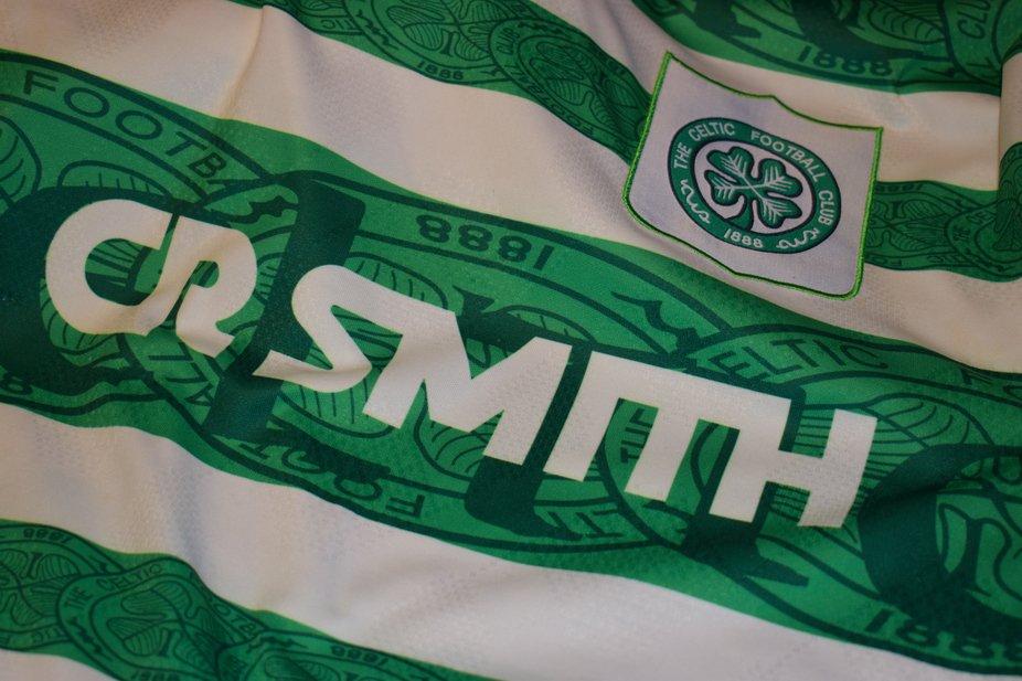 Glasgow Celtic's club sponsors in 1996