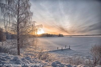 Winter sun -19c