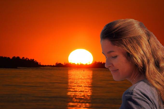 Kaz and another beautiful Rainy Lake Sunset