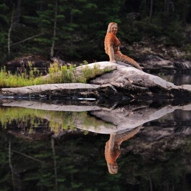 The Mermaid of Rainy Lake, outside of Fort Francis, Ontario, Canada