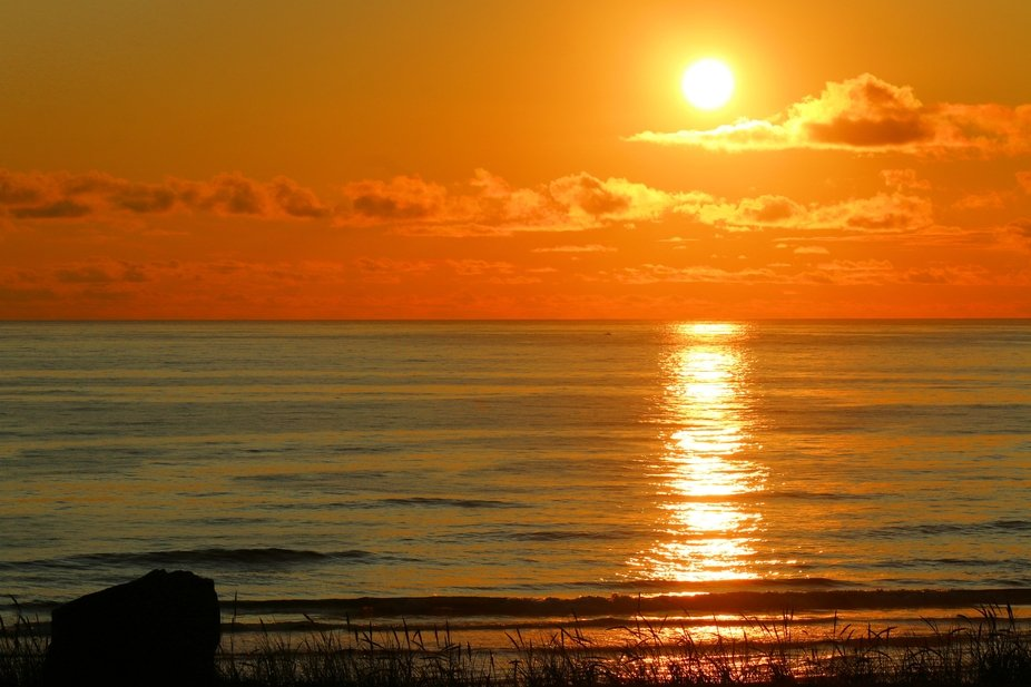 New Port Oregon, evening on the coast.