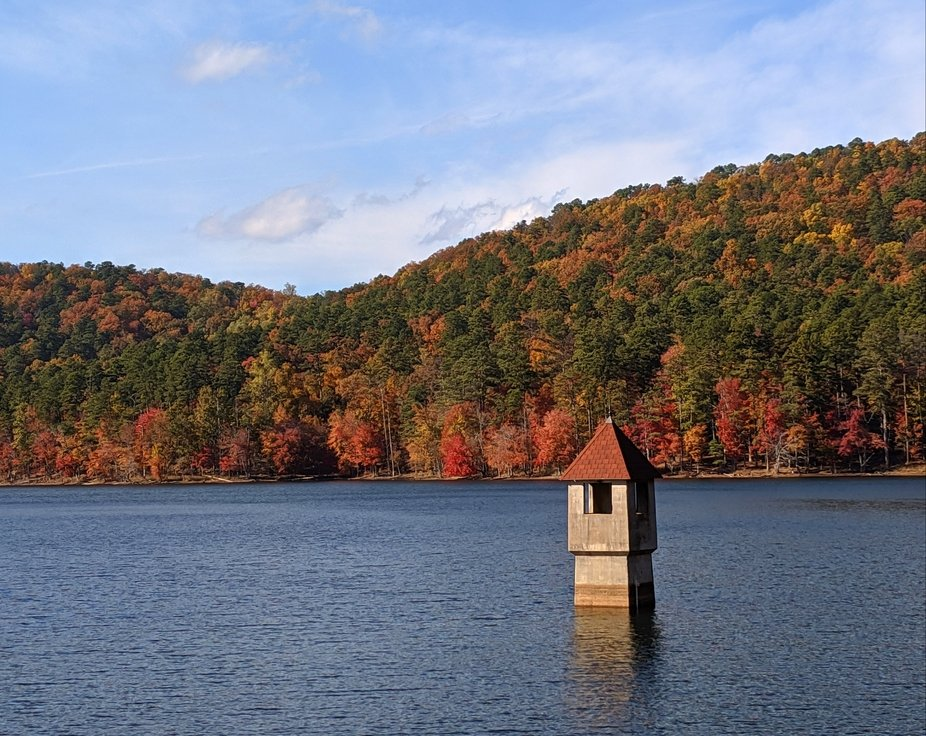 Berry College Reservoir on a perfect Fall day