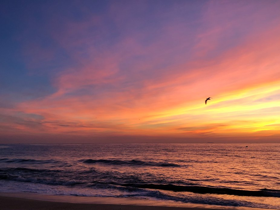 Jersey Shore Beach, breathtaking sunrise