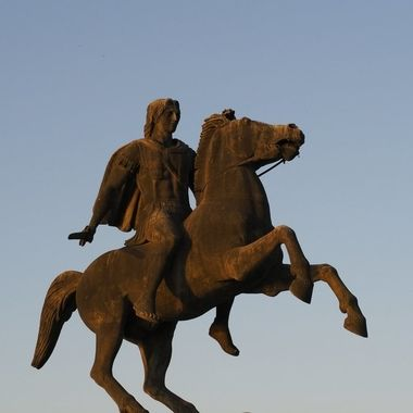 Alexander the Great Monument in Nea Paralia, Thessaloniki, Greece