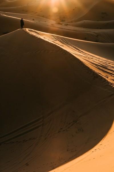 Desert's first lights