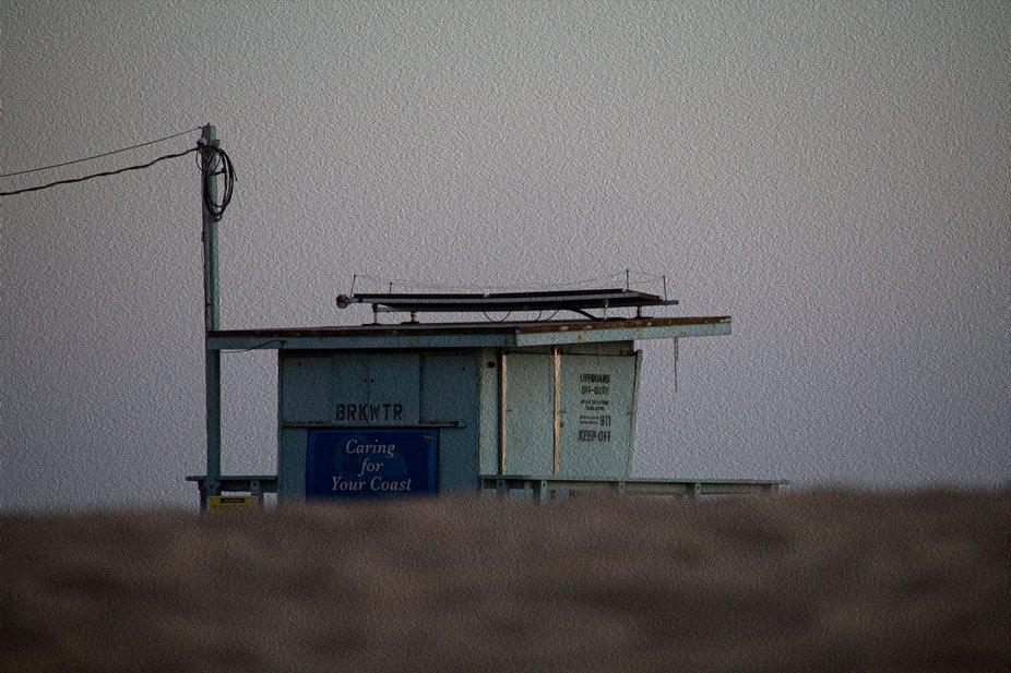 Lifeguard station BRKWTR in Venice Beach, CA. Oil paint finish.