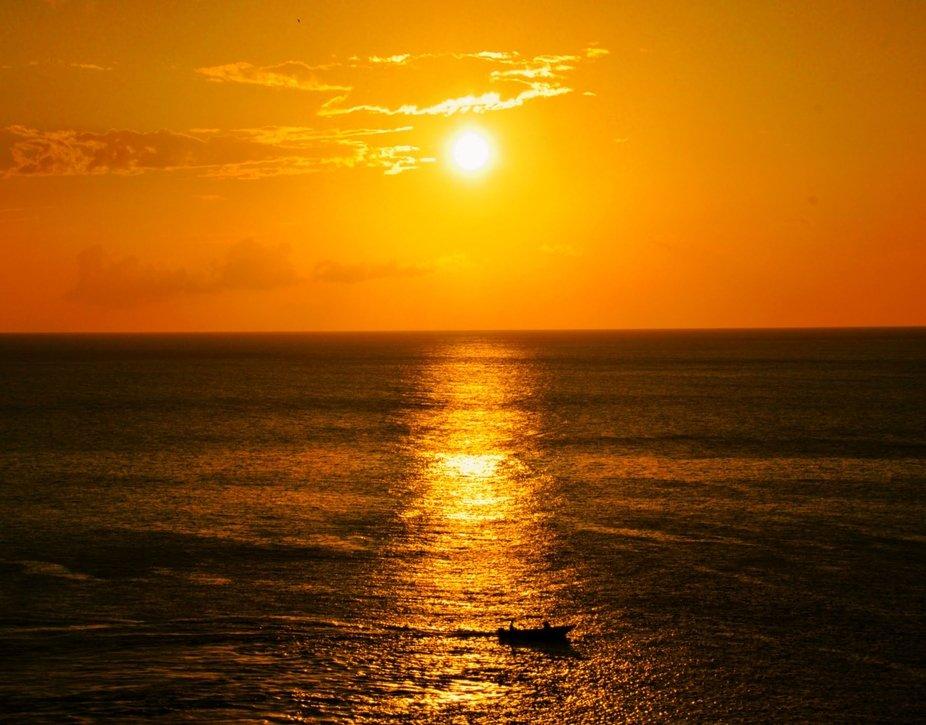 Allein in den Sonnenuntergang