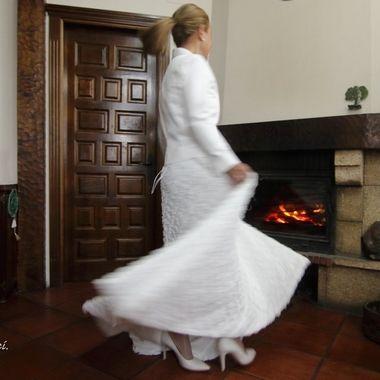 Probando el vestido de novia
