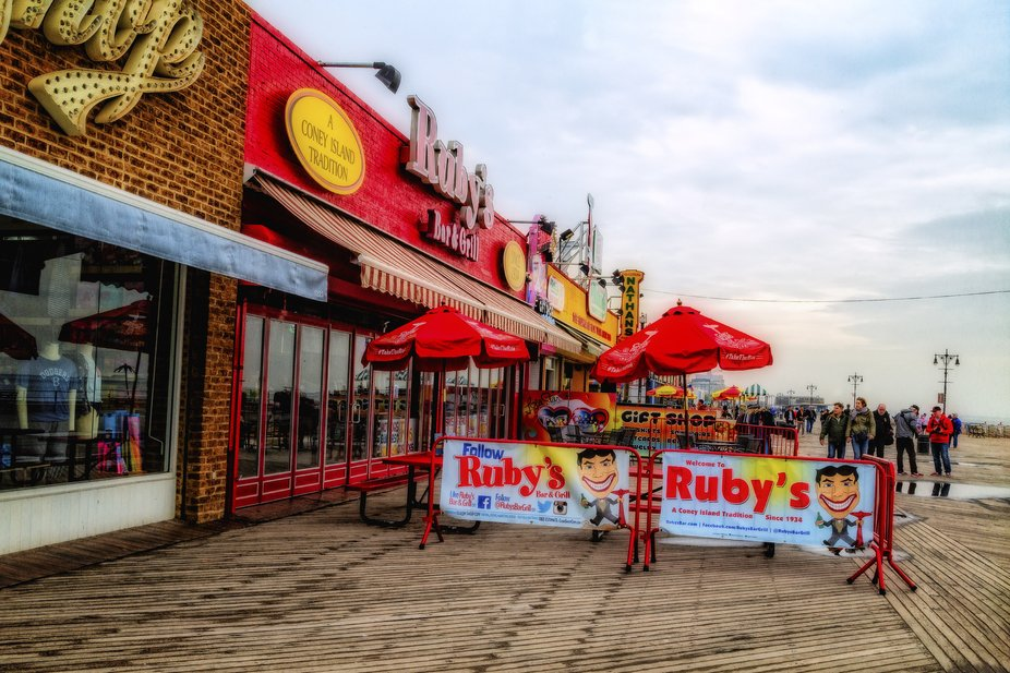 Ruby's Bar and Grill opened in 1975 but the boardwalk space that it occupies started out as the...