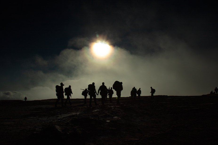 British Soldiers during a training exercise in the Brecon Beacons
