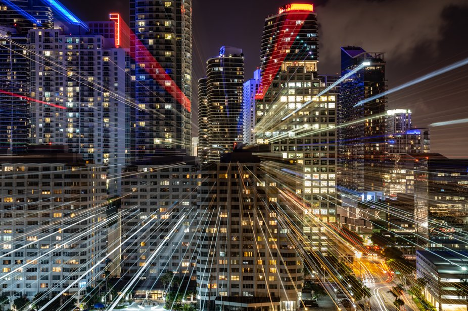 Downtown Miami. Long exposure with a manual zoom burst for the last five seconds.    www.ssshootp...