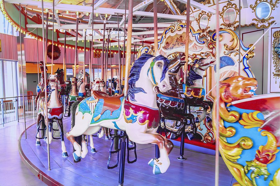 This famous carousel was first built in 1906 and is a fixture of the amusement park on Coney Isla...