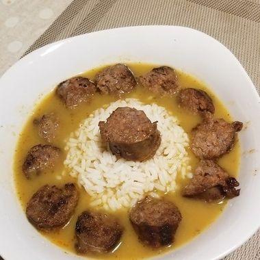 Gourmet soup dish.