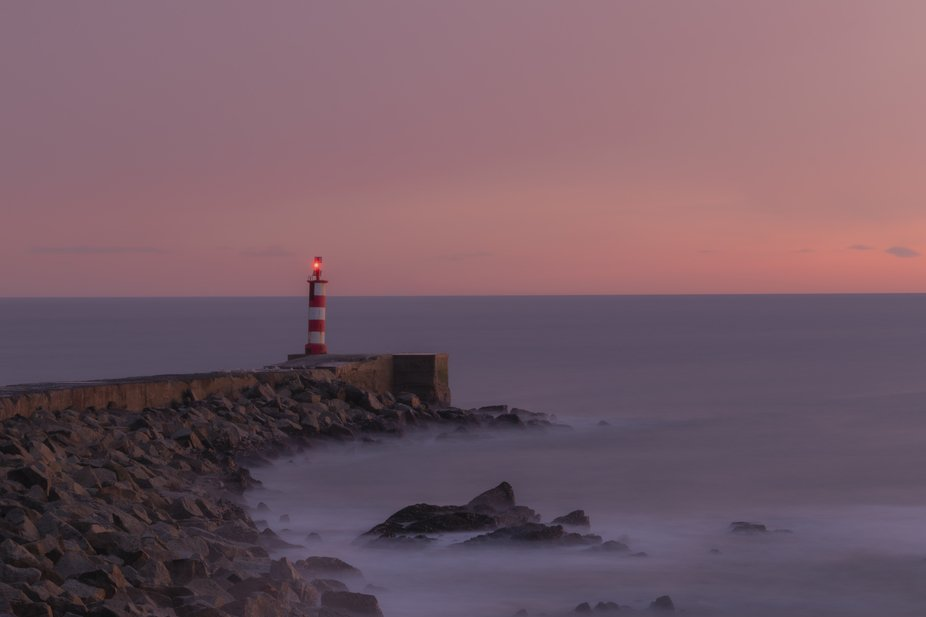 The red and white lighthouse